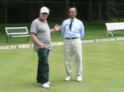 with Tom - Lawn Bowling